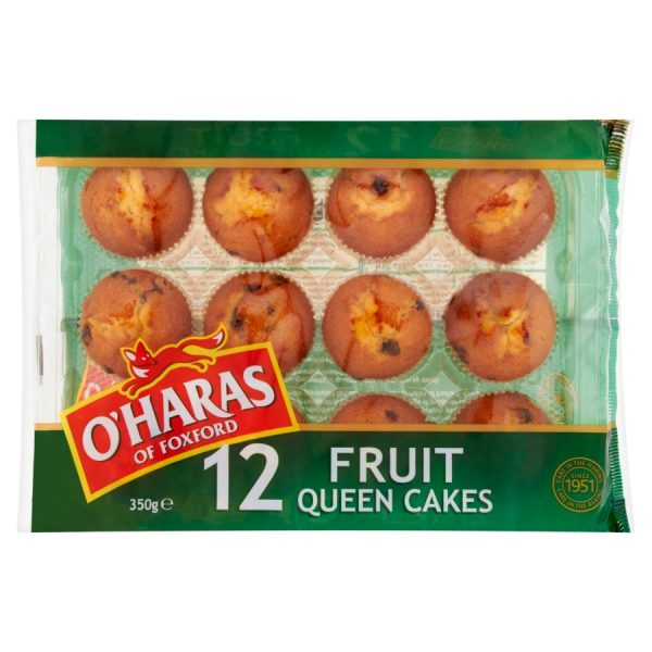 O'Haras of Foxford 12 Fruit Queen Cakes 350g