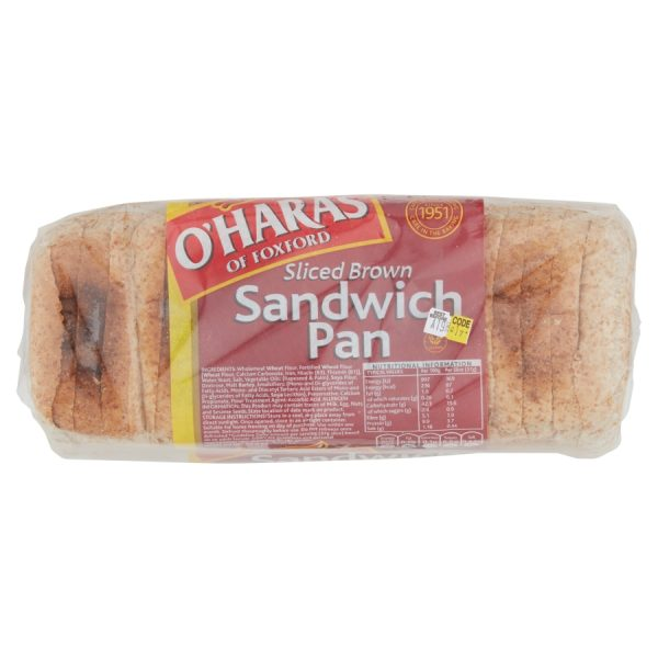 O'Haras of Foxford Sliced Brown Sandwich Pan 800g