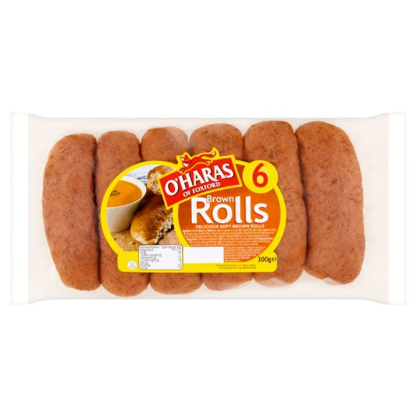 O'Haras of Foxford 6 Brown Rolls 300g